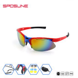 標準SposuneのセリウムはUV400ゴルフガラスのスポーツのサングラスを反スクラッチする