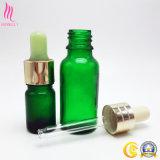 Botella de cristal caliente del petróleo esencial del cosmético de la venta con el cuentagotas