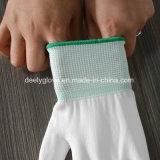 Сжатия строителей перчаток работы безопасности PU нейлона высокого качества перчатки белого садовничая