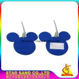 Персонализированные подгонянные напечатанные бирки багажа Hangtag PVC пластичные с петлей