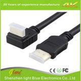 HDMI 케이블에 정각 HDMI