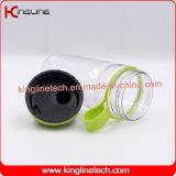 Frasco feito sob encomenda do abanador da proteína do logotipo 600ml com misturador plástico (KL-7035)