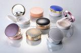 Cosmético plástico de los productos que empaqueta el envase de polvo compacto