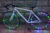 Luzes instantâneas recarregáveis da corda do raio da roda da bicicleta do diodo emissor de luz da C.C. 20