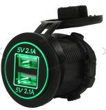 12V-24Vは充電器2.1A+2.1A USB車のタバコのライターのソケット力のアダプター車の二倍になる