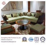Mobília ao ar livre do hotel para o sofá do canto da sala de visitas (YB-F-009)