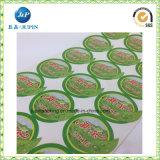 Imprime la etiqueta de papel de PVC/Impresión de etiquetas autoadhesivas Barcode adhesivo transparente (JP-S196)