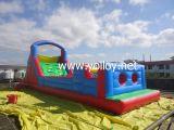 Parcours de combattant gonflable géant de videur avec la glissière