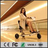 Scooter se pliant électrique intelligent de mobilité de 3 roues de mode pour la femelle