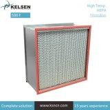 Sala limpia de ahorro de energía libre de Boro Mini pliegues filtro HEPA ULPA de PTFE