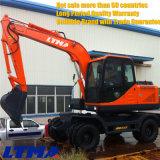 Venta caliente excavador chino de la rueda de 8.2 toneladas con el compartimiento 0.4m3