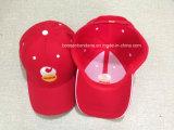 Fabrik-Erzeugnis passte Firmenzeichen gestickten schwarzen Baumwoltwill-Baseballmütze-Vati-Hut an