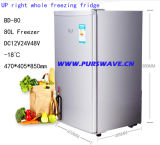 Compressor solar do congelador da porta dobro do refrigerador do veículo do refrigerador de Purswave Bd-80 80L DC12V24V48V que Refrigerating para o automóvel do barramento do motor do carro