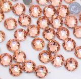 На заводе в реальном высокой блестящих Ss16 2088 16 вырезать граней исправление с шампанским и персиковых стразами для роскошных женщин