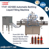 Quatre chefs automatiques mettant la machine de remplissage liquide pour les boissons (YT4T-4G1000)