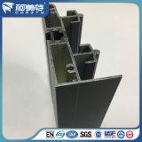Perfil de capa de la ventana de aluminio del polvo gris del aislante termal del OEM 6063