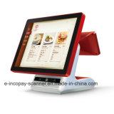 """IcpEa10dアンドロイド15の"""" POSシステムのための単一の容量性タッチ画面の金銭登録機かスーパーマーケットまたはレストランまたは小売り"""