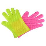 Термостойкий Противоскольз. Силиконовые гриля для барбекю кухонные рукавицы перчатки