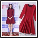 Платье партии Джерси красной осени повелительниц способа высокого качества Viscose Nylon Close-Fitting