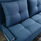 Base quente do sofá da dobra da venda três na cor azul