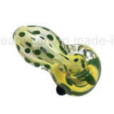 Tubos de cristal del mini del tazón de fuente del tabaco del fabricante de la corona de la cuchara cenicero de cristal del arte (ES-HP-343)