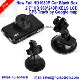 """magnetoscopio della macchina fotografica dell'automobile di 2.7 """" SONY con il GPS che segue l'antenna di ricevente, inseguimento posteriore del gioco del programma di Google; scatola nera dell'automobile di 5.0mega FHD1080p, camma di controllo di parcheggio"""