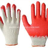 Kreuk van het latex bedekte de Gebreide Shell van het Garen Handschoenen van het Werk van de Veiligheid met een laag