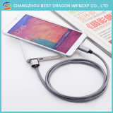 Trançado de Nylon 3.0 Tipo C Cabo USB de dados para iPhone Samsung