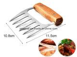 Pega de madeira profissional de aço inoxidável com garras de carne