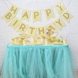 Les plaques de fête d'anniversaire de la plaque en papier jetables jaune pour le parti de la vaisselle