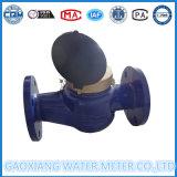 2'' pulgadas rueda de paletas Medidor de agua tipo de conexión con las bridas
