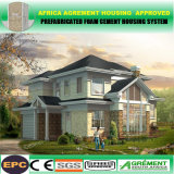 Maisons de construction préfabriquée de bonne qualité de coût bas de certificat d'OIN