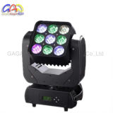 RGBW 4in1 9 * 12W Matrix LED Moving Head Wash Light