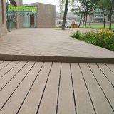 Plancher en plastique en bois extérieur modèle populaire de Decking de jardin du composé WPC