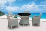 4+1 [رتّن] خارجيّة طاولة وكرسي تثبيت