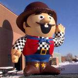 Mascotcartoonの膨脹可能なおもちゃを広告する最も新しいデザイン