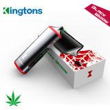 Agente seco del vaporizador de la hierba del rectángulo de Kingtons del E-Cigarrillo de la ventana compacta del negro querido