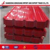 Feuille de carton ondulé en acier galvanisé de couleur à partir d'Huaye