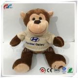 로고 자수로 착용하는 스웨터를 가진 원숭이에 의하여 채워진 장난감 견면 벨벳 원숭이 장난감을 주문 설계하십시오
