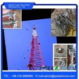 Torre móvel das telecomunicações do mastro de Guyed da antena do telefone de pilha da G/M