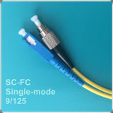 Cuerda de remiendo óptica unimodal de fibra de la PC FC-Sc