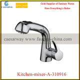 Le traitement simple en laiton retirent le robinet de bassin de cuisine de la CE de jet