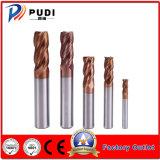 4 flautas HRC<58 Ferramenta de corte de carboneto de Sólidos