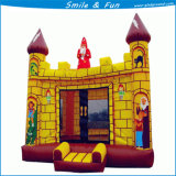 Le château sautant gonflable de videur avec géant conjuguent combo de glissière