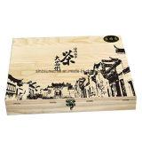 Коробка Customzied Paulownia деревянная для чая с Silk логосом печатание
