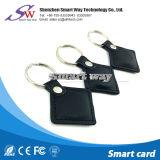 Hf 13.56MHz Mf 1 S50 RFID 가죽 Keyfob
