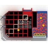 Trampoline de venda quente do parque para o equipamento de esportes com aro de basquetebol