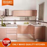 Anstreichender rosafarbener Lack-Tür-Küche-Schrank