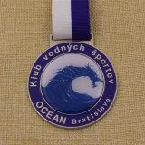 Medalla de encargo del metal de la concesión de la escuela con la cubierta de epoxy