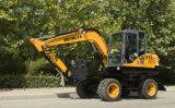 De tamaño medio de la excavadora ruedas Excavadora de ruedas de 7 Ton.